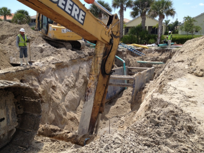Sewer Pipe Install
