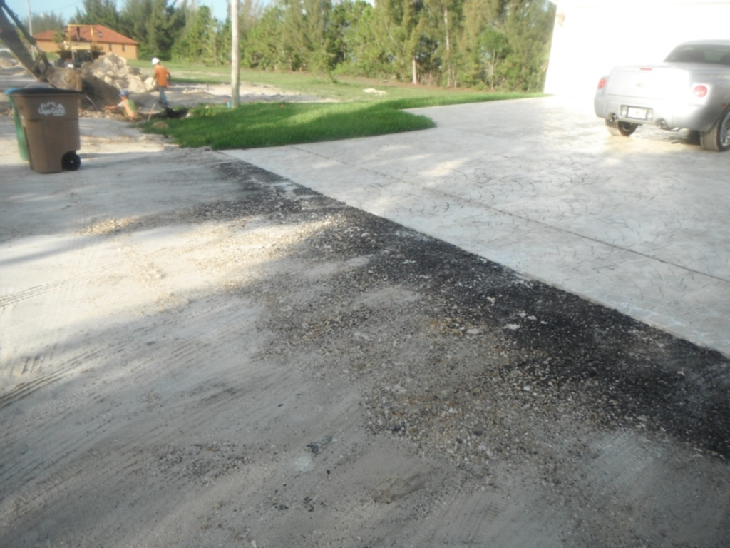 Driveway removal in Right-of-Way