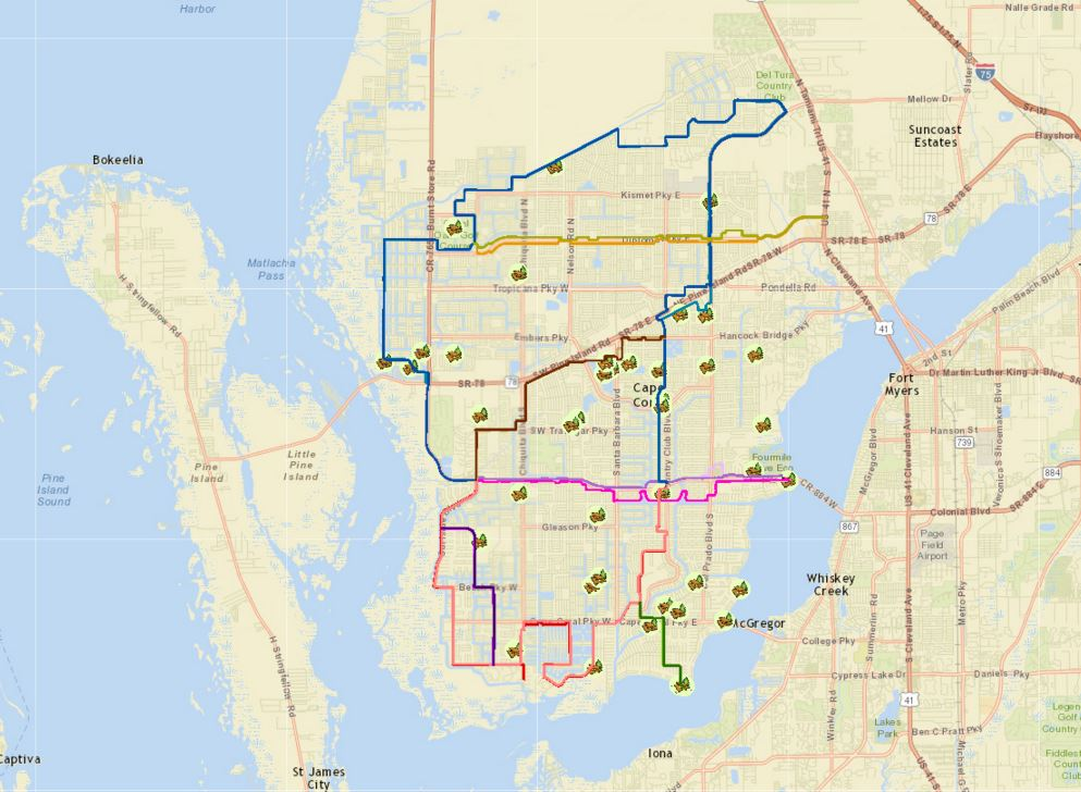Cape Coral Florida Map.Interactive Gis Maps