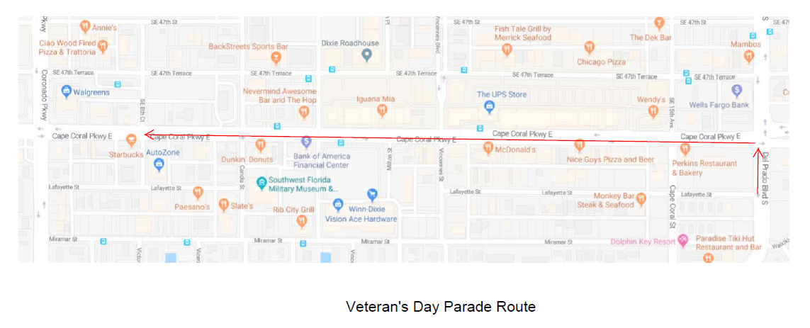 Veterans Day Parade Map - Copy