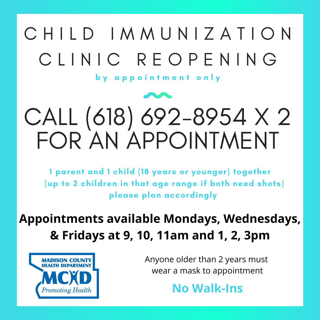 Immunization Clinic Post update - 6-3-2020