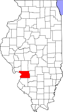 Map of Illinois highlighting Madison County